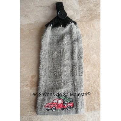 Serviette-camion-rouge-broder-coton-main-tricoter-400x400
