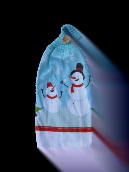 Bonhomme de neige serviette