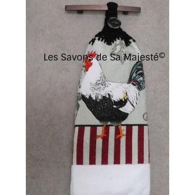 serviette-coq-noir-blanc-savon-majeste-main-suspendre-quebec-400x400