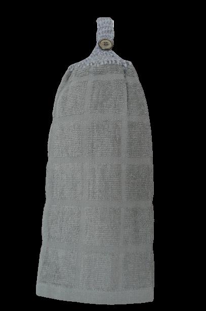 Serviette à mains Gris en coton