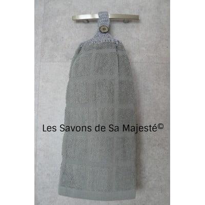 serviette-gris-savon-main-suspendu-accrocher-coton-400x400