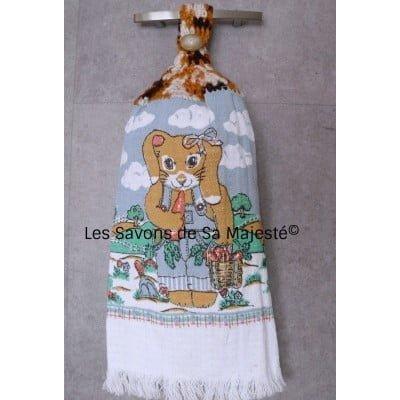 serviette-lapin-coton-tisser-blanc-bleu-main-accrocher-400x400