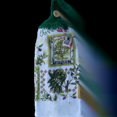 Olivier et olives serviette à mains