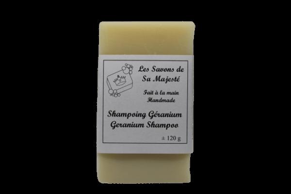 Shampoing solide Géranium en barre