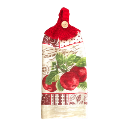 Pommes rouge sur branche serviette