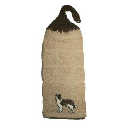 serviette avec motif de chien bouvier bernois