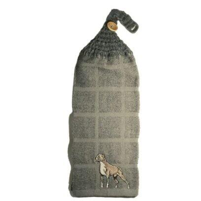 serviette à mains avec motif brodé de chien boxer