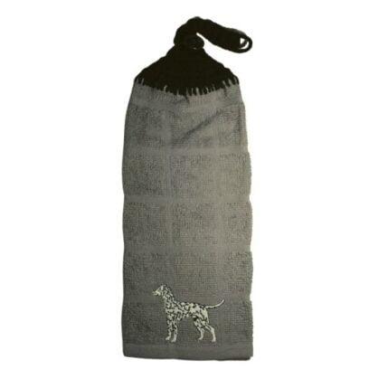 Serviette avec chien Dalmatien brodé
