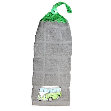Serviette à main camper mini bus vert