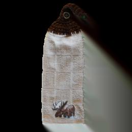 serviette à main orignal en coton